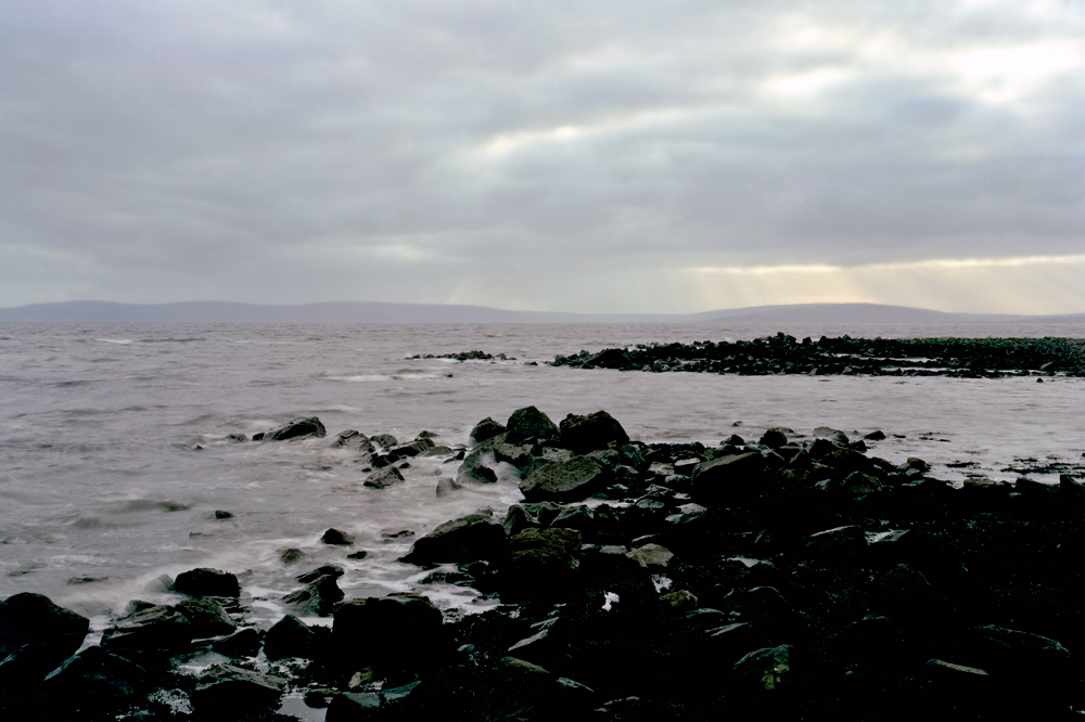 Grandma in Galway Bay, Ireland, 2011