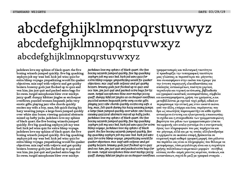 Image 4: Example font and spacing proof.