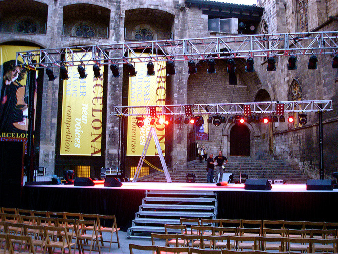 "Music festival finale venue for ""Amiga's Cheetahs"" dance number."