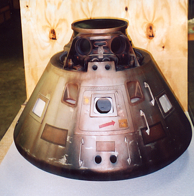 "This miniature space capsule was placed on a dry ""sea floor"" set fogged-up and surrounded in black to allow us to shoot his approach to it."