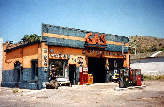 San Ramos' ramshackle gas station.