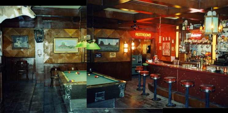 Dayton Nevada Town bar interior stage set.