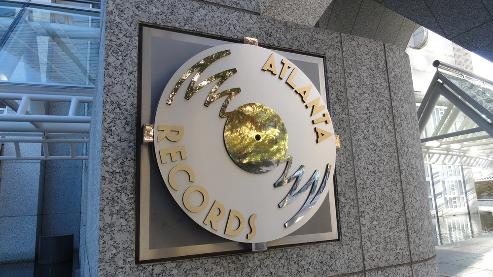 Sleek sign for Atlanta Records.