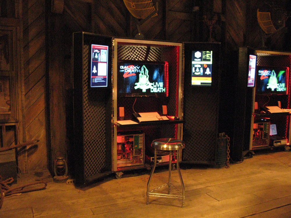 A detail of one of the mobile command communication cases in the commandeered shack.