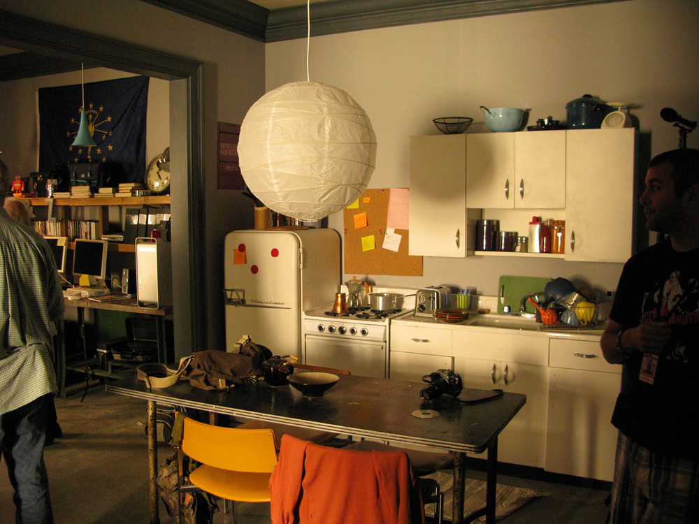 Another view of Peyton's (Austin Butler) studio apartment stage set.