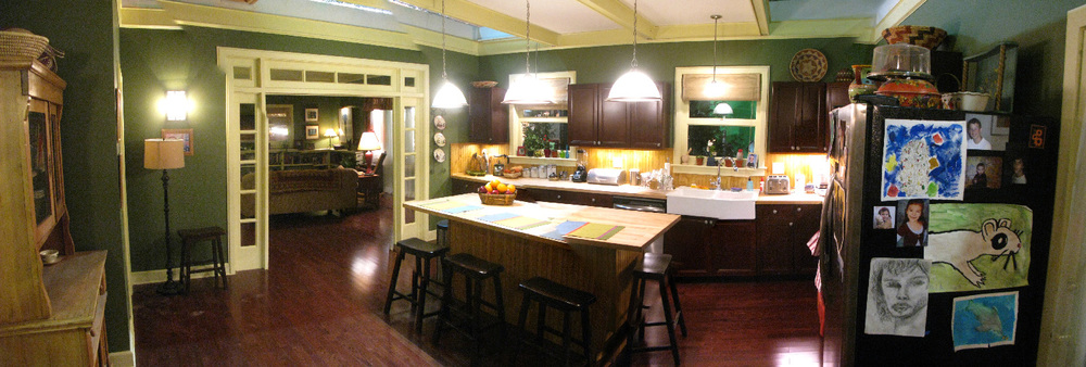 Pearson family kitchen/ family room- stage set.