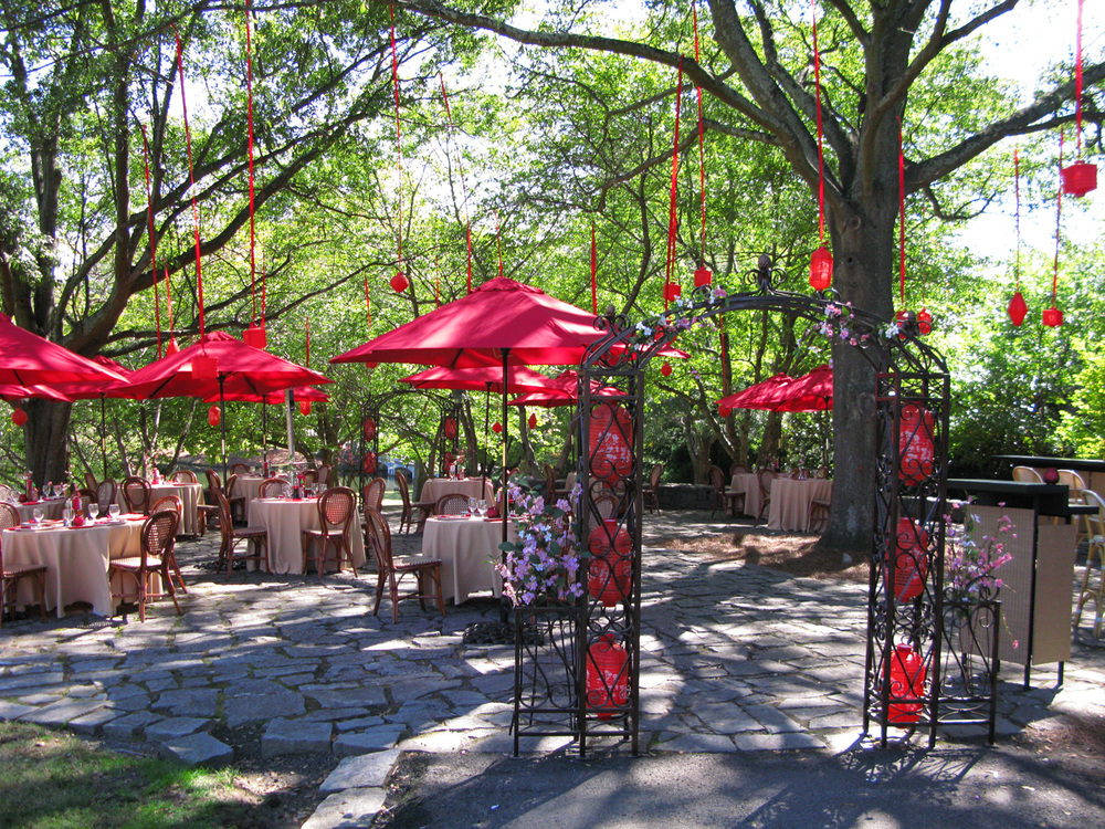 """Indochine"" outdoor bistro we created in a park."