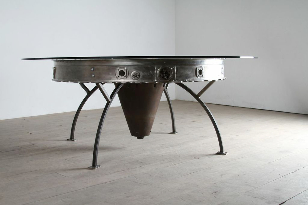Another view of our prototype MD-80 turbine dining table. More prototypes coming soon!