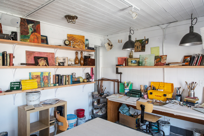 The artist's studio we created became a real hit with visitors. So much so that the Airbnb folks had to scramble to keep it stocked with art supplies for people to sketch and paint.