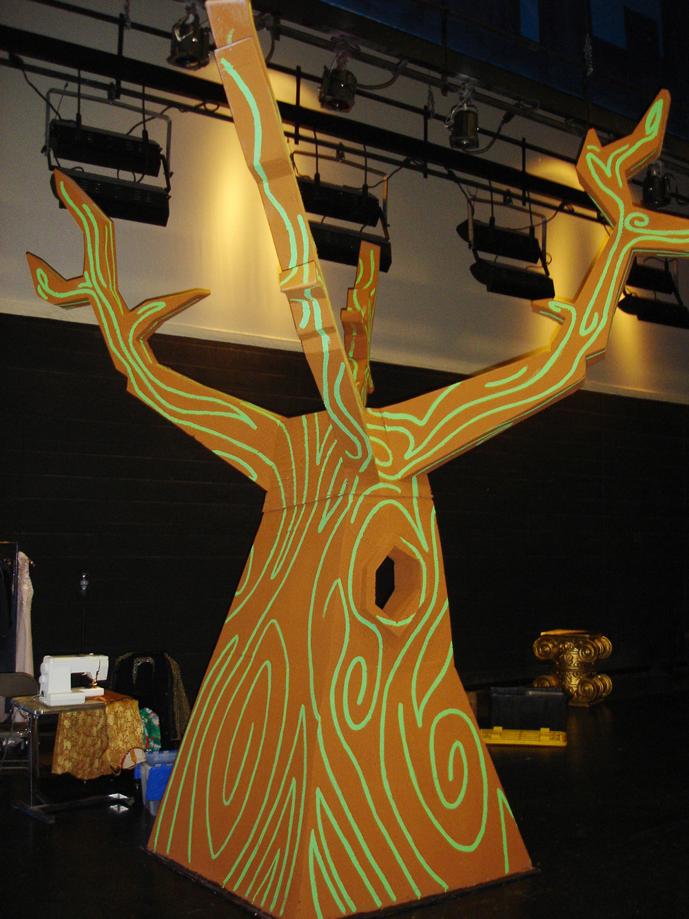 "The tree from the ""Twinkle Town"" musical the cast was preparing for."