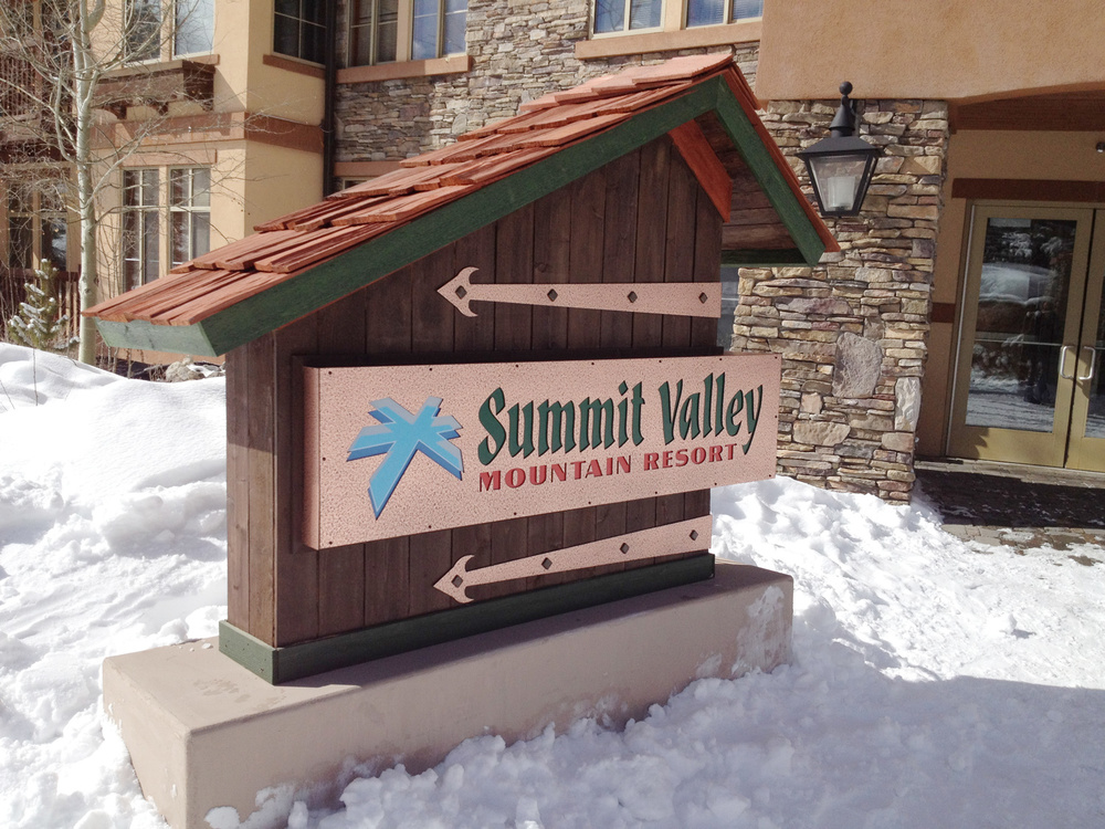 Portable Summit Valley Resort sign, served us in a few locations.