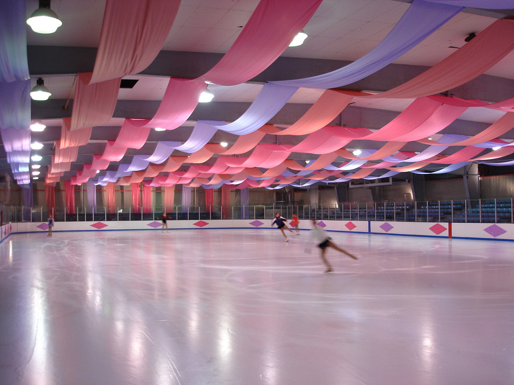 A really sad municipal ice rink made fabulous.
