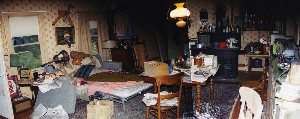 Here is the same room after Mother (Marcia Gay Harden) and son (WillEstes) leave after years of abuse and neglect. Father Joe (Aidan Quinn)hunkers down in one room as his life further deteriorates.