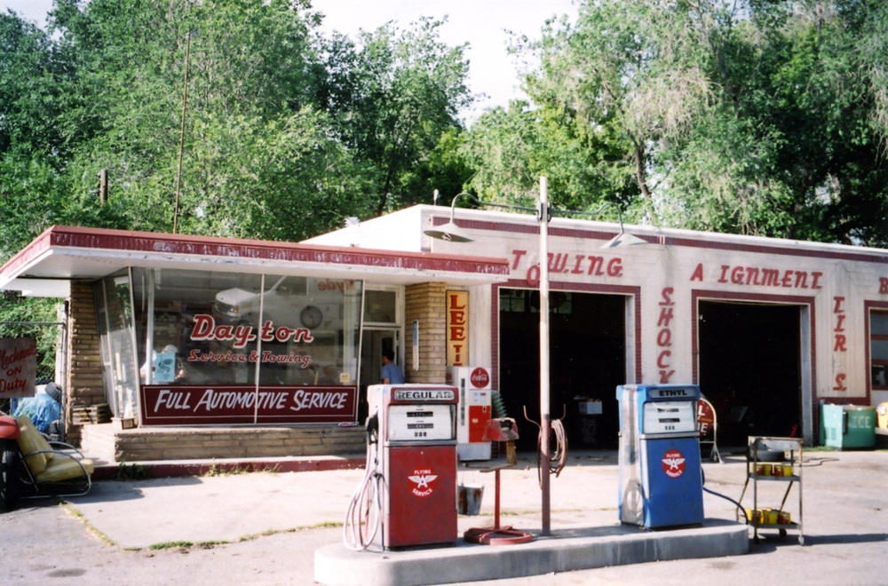 "Just a Dream is a 1960 period piece set in Dayton Nevada, and is a fictionalized account of the events surrounding the filming of the classic film ""The Misfits"" there at that time. Here is the hard scrabble town service station, with a new facade, signage and gas island."