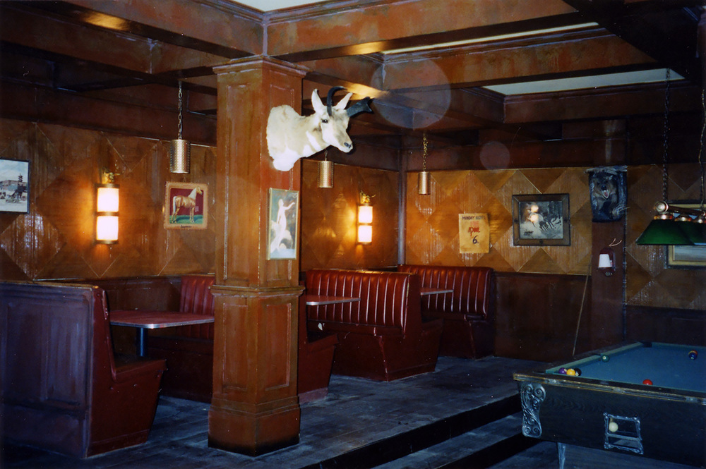 Another view of the Dayton town bar interior stage set.