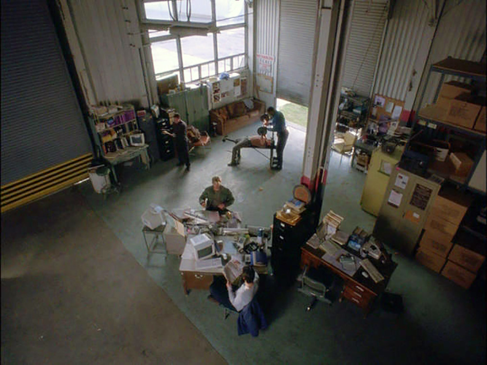 Overhead shot of the Customs Enforcement office.