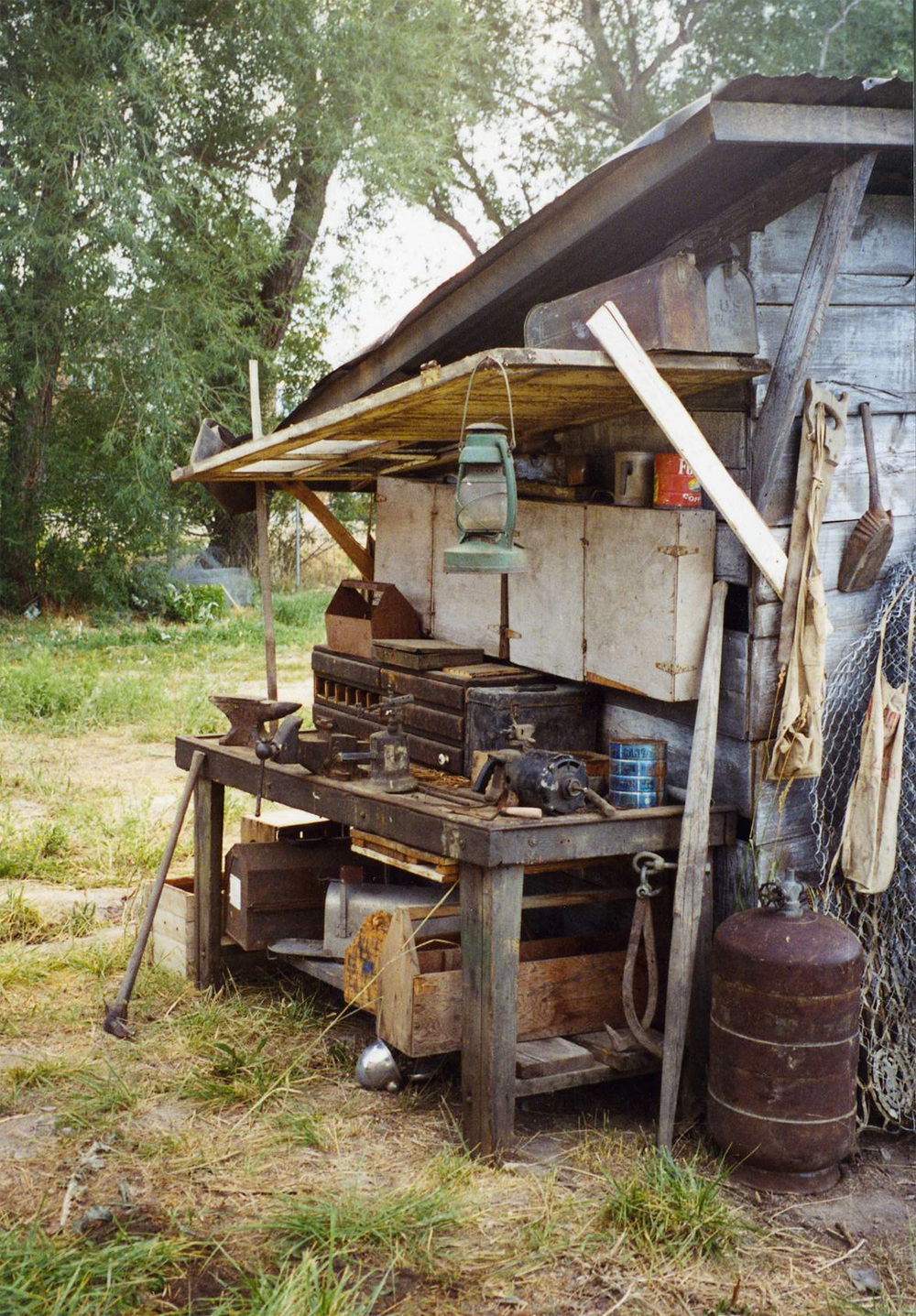 Detail of the garden shack.