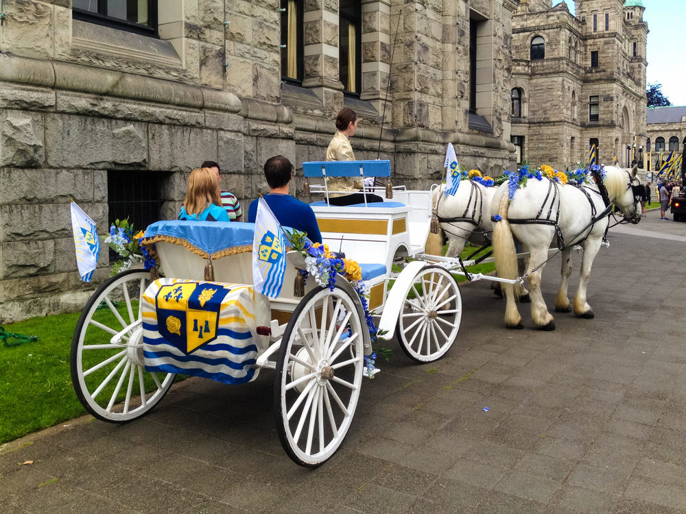 The royal carriage ready to transport Ben and Mal to the coronation.