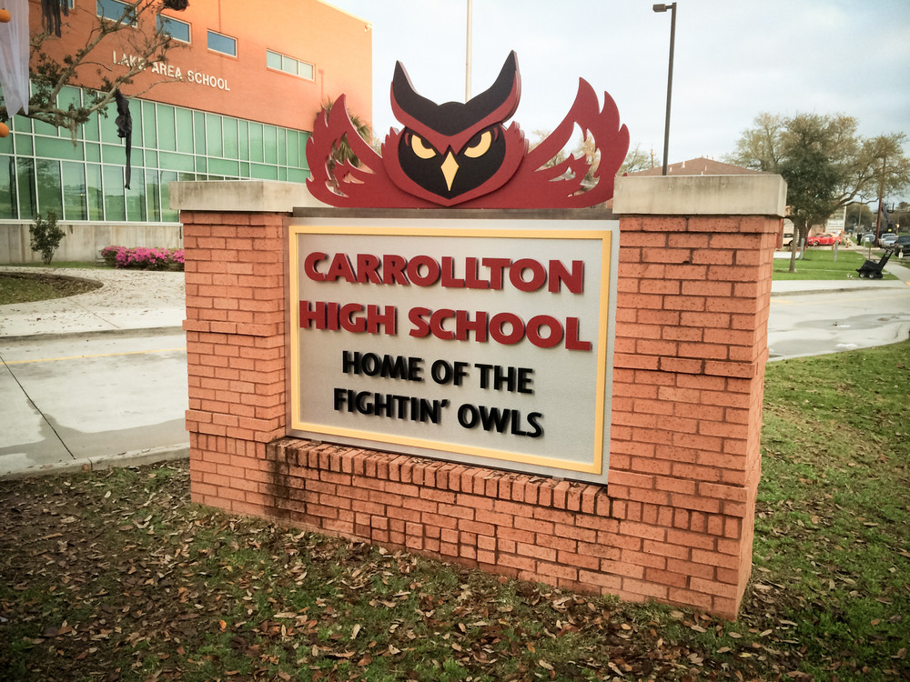 Being Halloween, we chose to make our high school mascot an Owl.