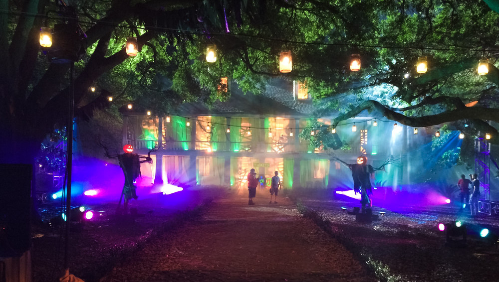 Here we took the historic Whitney Plantation and transformed it into a fun, haunted Southern night for Romp the Swamp.