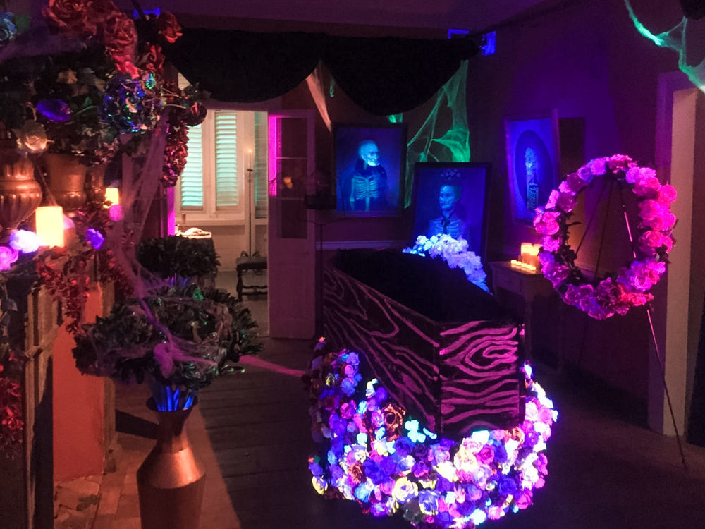 More Black Light. Here Is A Room In The Haunted Plantation Set For A  Vampireu0027s Part 63
