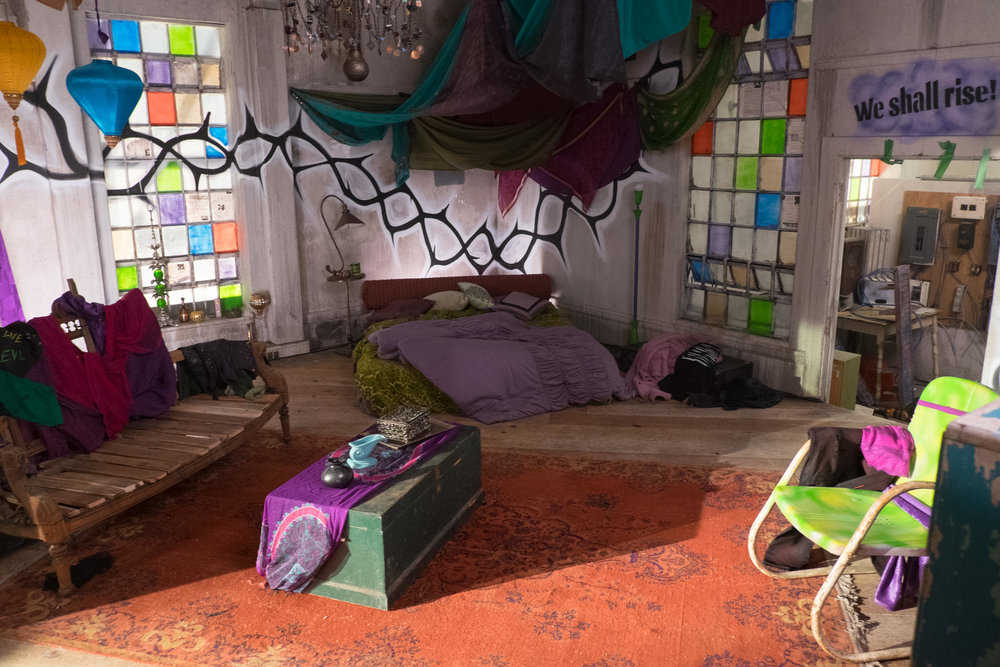 Mal's room in the VK's hideout on the Isle of the Lost.