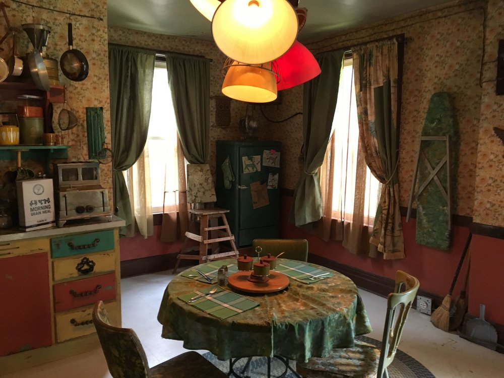 Zed's (Milo Manheim) family kitchen. Unlike the sterile, pastel human homes, the zombie homes are full of authentic love and realness.