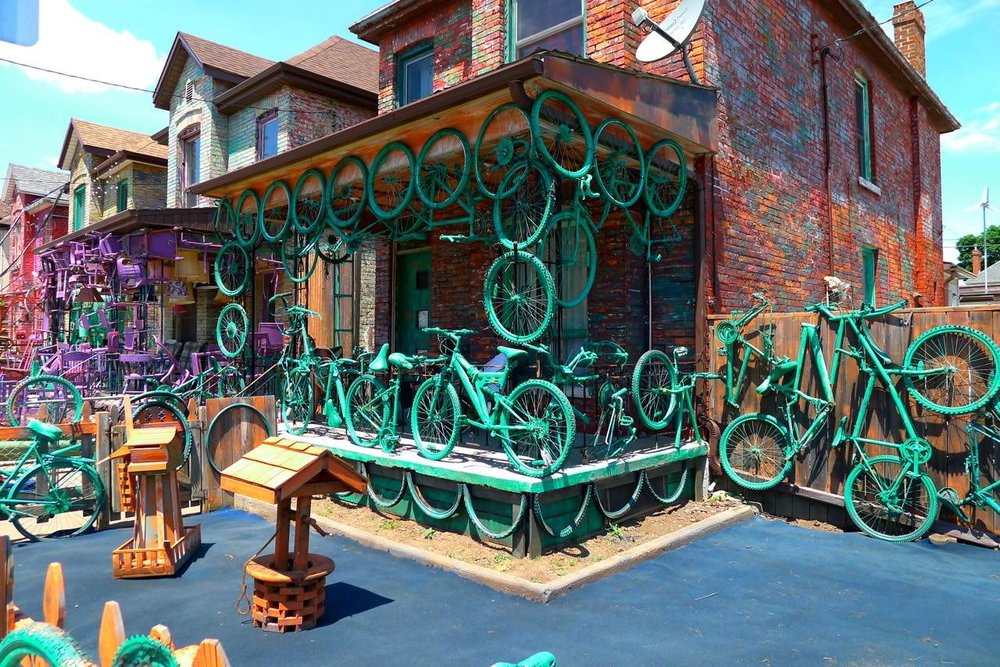 This Zombietown house is all about the freedom that wheels offer to people who spent decades staggering aimlessly.