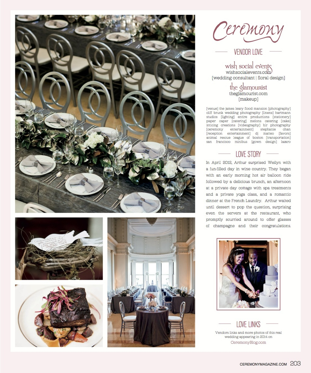 CeremonyMagazine-SF14-page203 Weilyn and Arthur in Ceremony Magazine.jpg