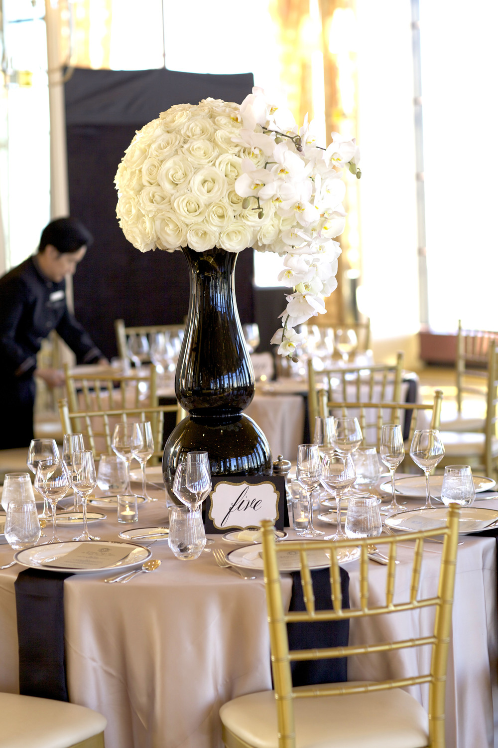 rose and orchid centerpiece - wish social events