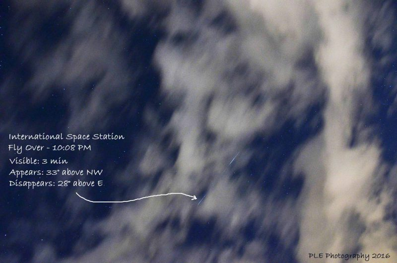 "Patricia Evans in Seabrook, New Hampshire caught this ISS flyover through clouds on June 9, 2016. She wrote: ""It moved quickly and silently overhead towards the East."""