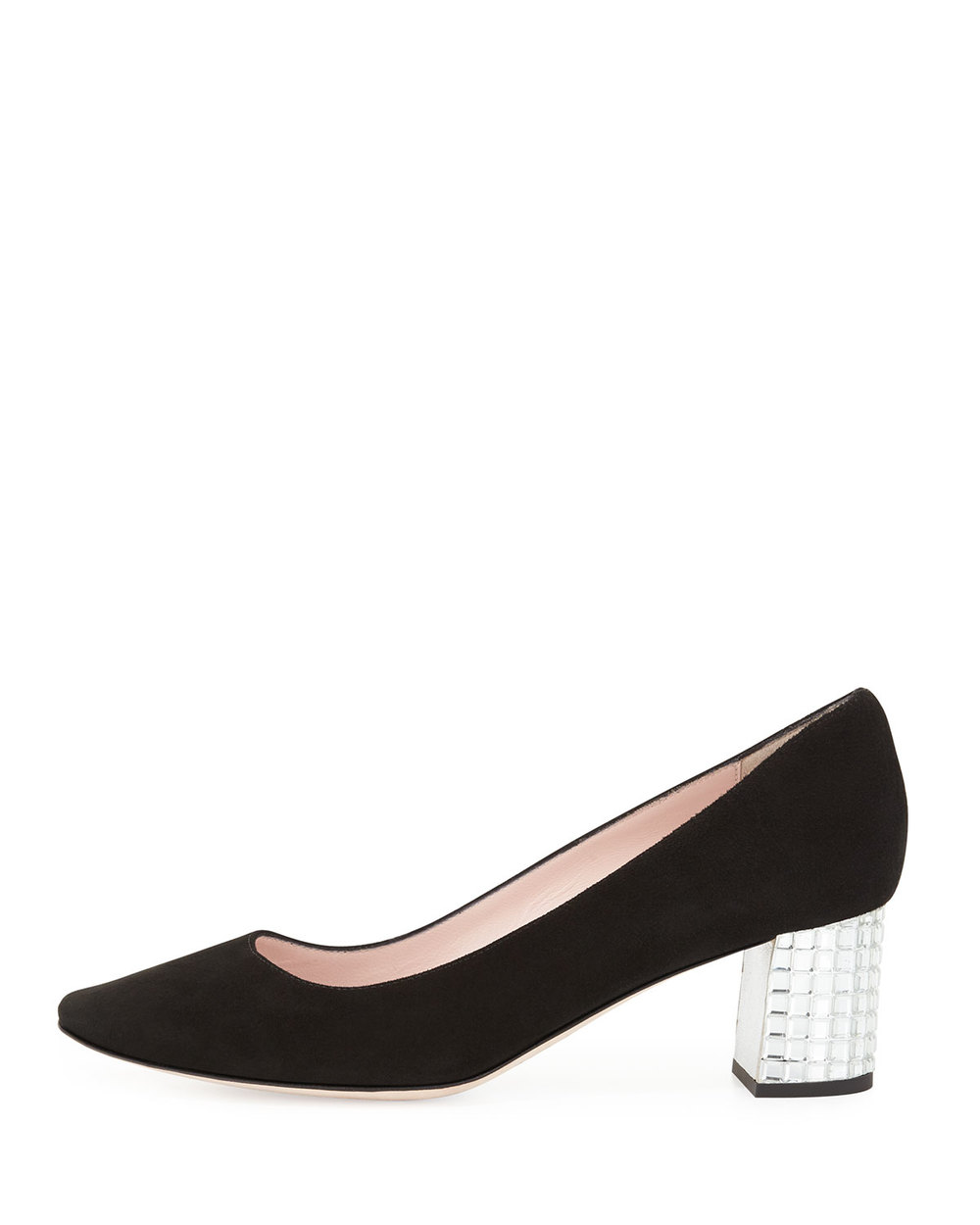 Grandma will try to steal these, be careful.  Kate Spade block heel pump, $350, at  Neiman Marcus .