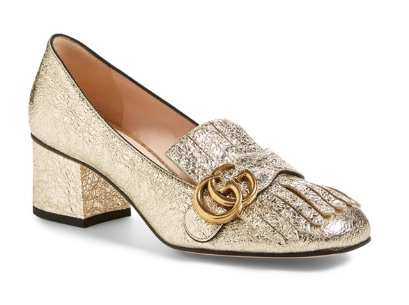 These glittery Gucci's are polished and professional enough to take you to the cubicle but also perky enough to take you to cocktails. Gucci pumps, $795, at  Nordstrom .