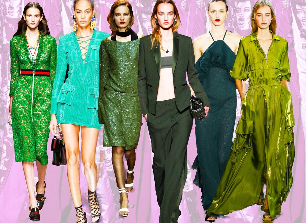 From left: Gucci, Balmain, Nina Ricci, Versace, Jason Wu, Lacoste.