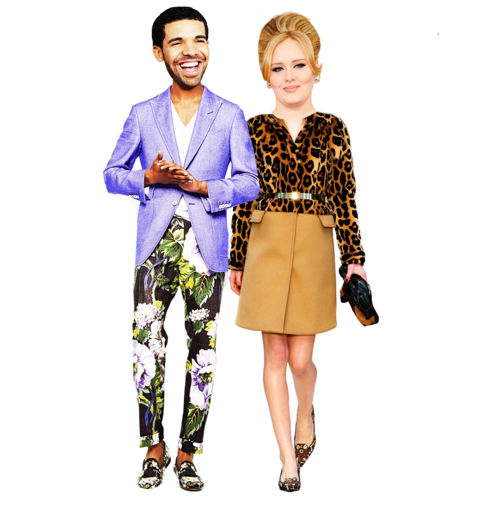 Drizzy in Tom Ford. Adele in Burberry. The dream team in what they should be wearing.