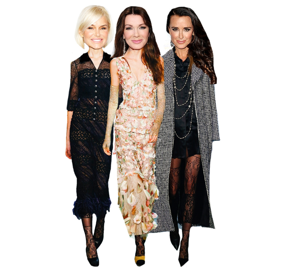Yolanda Foster, Lisa Vanderpump, and Kyle Richards in CHANEL PRE-FALL 2016 looks