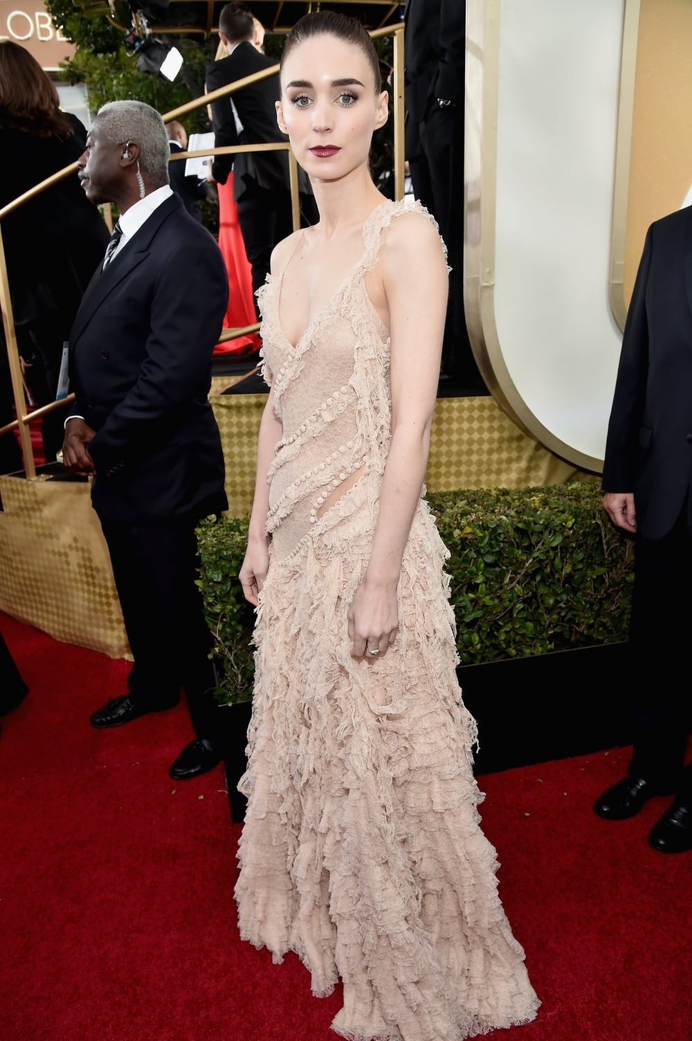 Rooney Mara in Alexander McQueen.