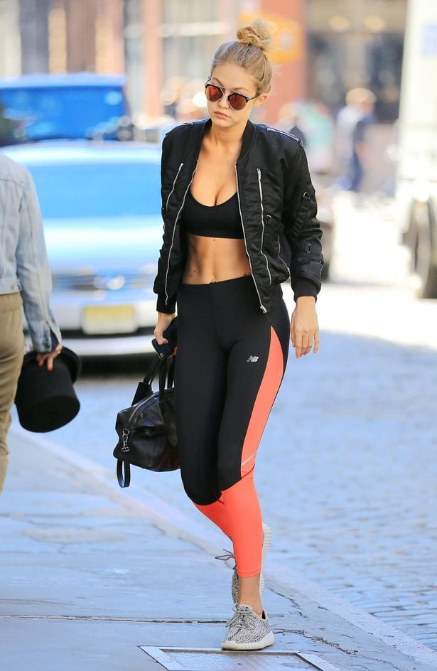 Throw a bomber jacket over your gym look for an instant fashun boost / Via  Mirror UK
