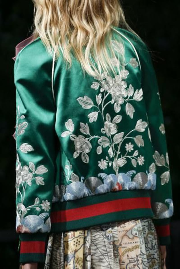If this  Gucci  bomber hasn't sold out yet, I will become a proud hooker to buy it / Via  I Love Green Inspiration