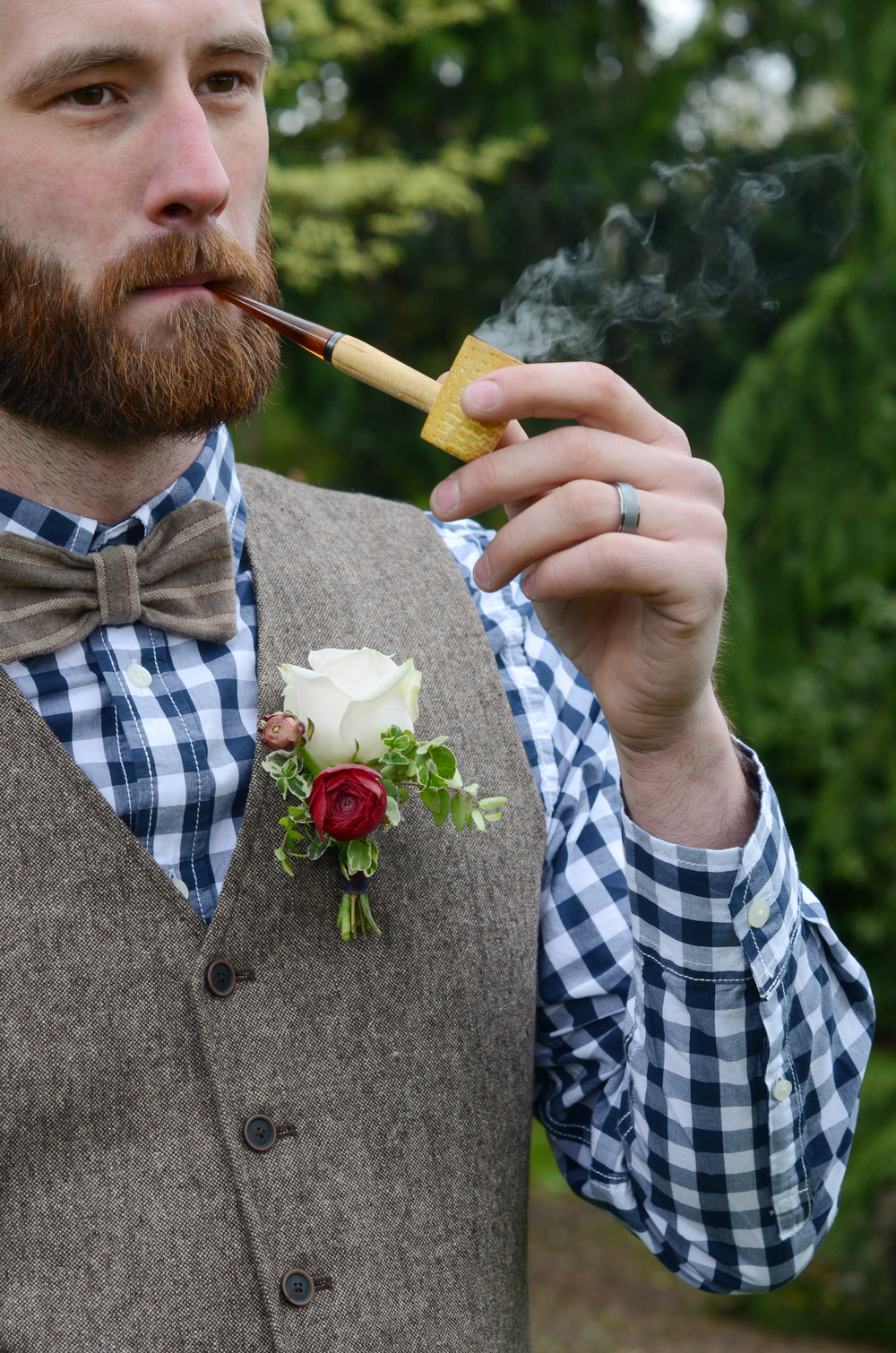 Boutonniere,  Abbotsford Wedding Floris t , Floral Design by Lili
