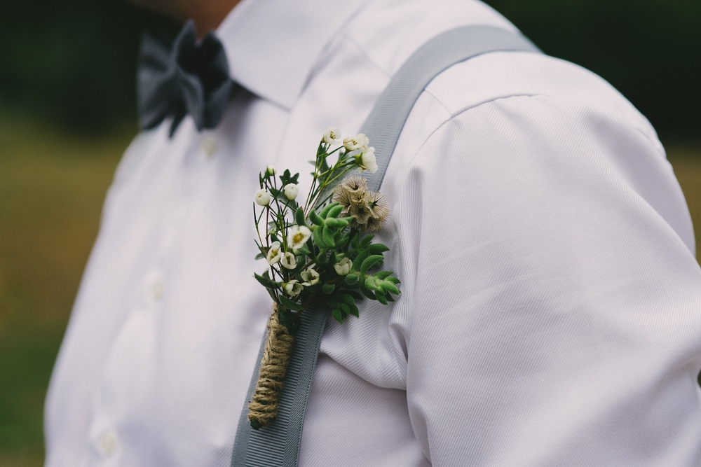 Boutonnier by Floral Design by Lili ,  Vancouver wedding Florist ,  Image by Sara Rogers Photography