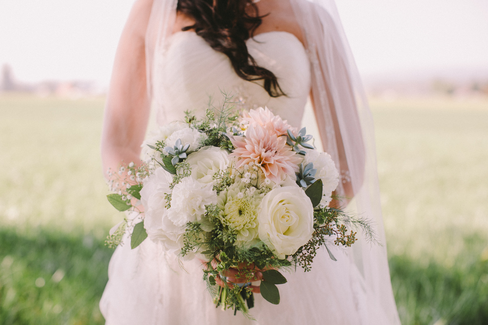 Vintage bridal bouquet by Floral design by Lili, Vancouver Wedding Florist, Image by Shauneille Ross