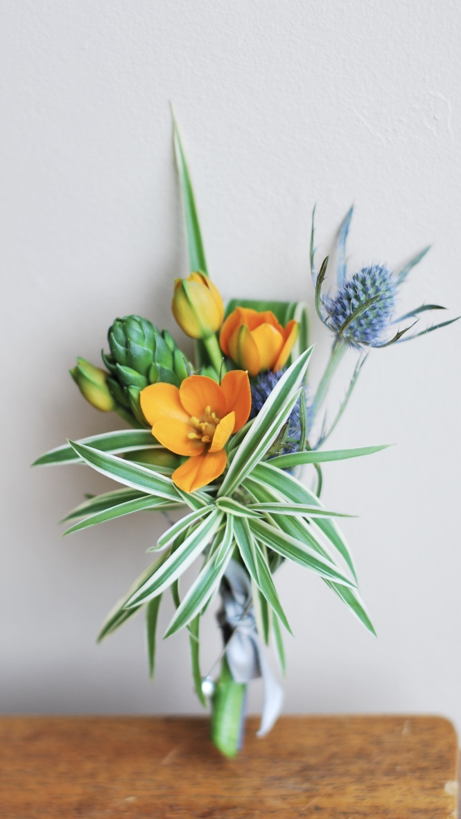 Boutonniere by Floral Design by Lili ,  Lower Mainland Florist.
