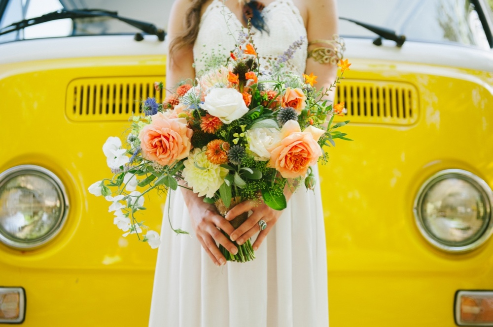 Bohemian Bridal Bouquet by Floral Design by Lili, Vancouver Wedding Florist, British Columbia. Image by Sharalee Prang Photography