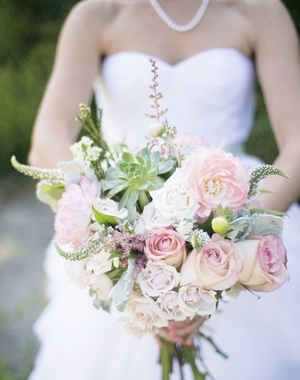 Vintage bridal bouquet by Floral Design by Lili , Vancouver wedding florist, Image by Image by Bethany