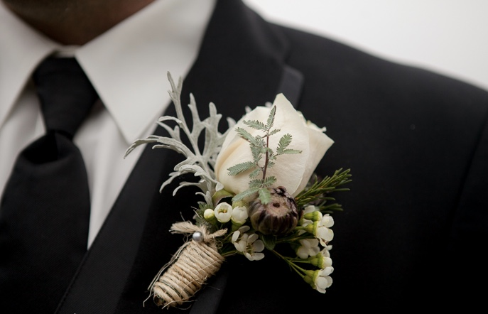 Boutonniere for weddings by Floral Design by Lili ,  Vancouver/Lower Main land Florist.
