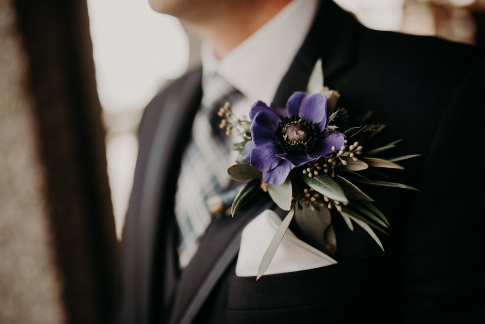 Grooms Boutonniere by Floral Design by Lili, Fraser Valley wedding Florist