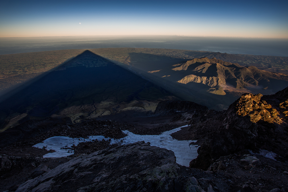 Shadow under a full moon…on Mount Taranaki, New Zealand
