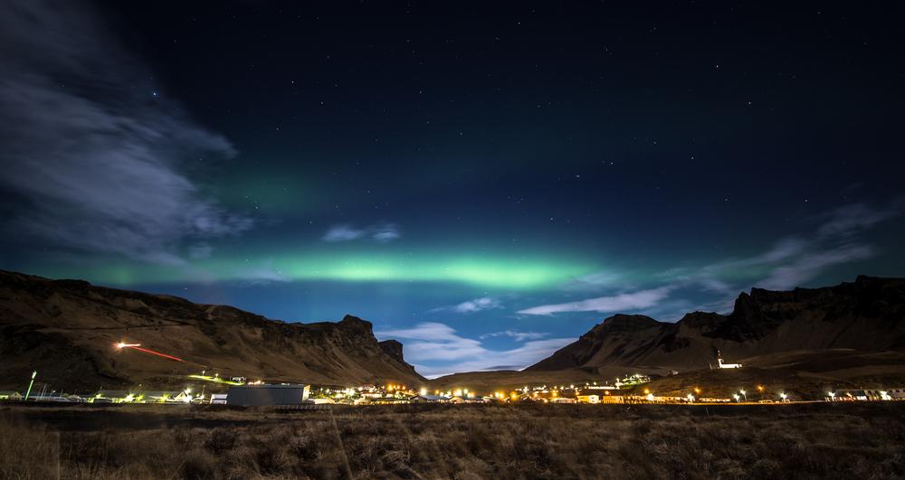 Aurora Borealis over Vik.