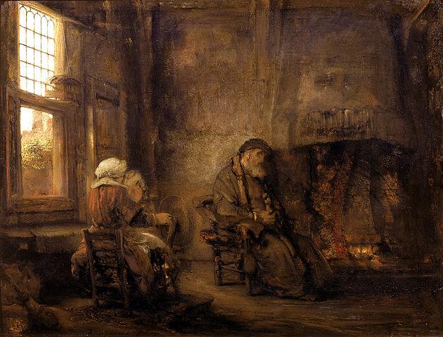 Rembrandt,Tobias e a sua mulher(1659)